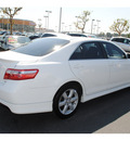 toyota camry 2009 white sedan se gasoline 4 cylinders front wheel drive automatic 91761
