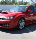 subaru impreza wrx 2009 red wagon sti gasoline 4 cylinders all whee drive 6 speed manual 27616
