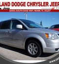 chrysler town and country 2010 silver van touring gasoline 6 cylinders front wheel drive automatic 33157