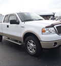 ford f 150 2008 white lariat flex fuel 8 cylinders 4 wheel drive automatic with overdrive 28557