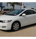 honda civic 2010 white coupe lx gasoline 4 cylinders front wheel drive automatic 77065