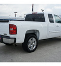 chevrolet silverado 1500 2010 white pickup truck lt flex fuel 8 cylinders 2 wheel drive automatic 77090