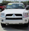 mitsubishi raider 2008 white ls gasoline 6 cylinders 4 wheel drive automatic 33884