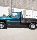 dodge ram pickup 2500 1998 dark green pickup truck slt diesel 6 cylinders 4 wheel drive 5 speed manual 80301
