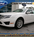 ford fusion 2012 white sedan sel flex fuel 6 cylinders front wheel drive automatic 32401