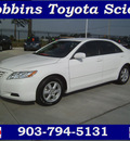 toyota camry 2009 white sedan le v6 gasoline 6 cylinders front wheel drive automatic 75503