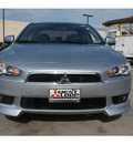 mitsubishi lancer 2009 silver sedan es gasoline 4 cylinders front wheel drive automatic 78238