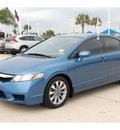 honda civic 2009 blue sedan ex l gasoline 4 cylinders front wheel drive automatic 77065