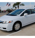 honda civic 2010 white sedan hybrid hybrid 4 cylinders front wheel drive automatic 77065