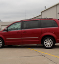chrysler town country 2010 dark red van touring gasoline 6 cylinders front wheel drive automatic 62034