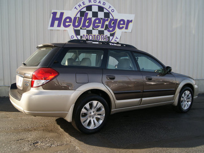 subaru outback 2008 deep bronze wagon 2 5i ltd l l  bean edition gasoline 4 cylinders all whee drive automatic 80905