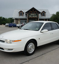 saturn l series 2001 white sedan l300 gasoline 6 cylinders front wheel drive automatic 76087