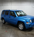 jeep patriot 2008 lt  blue suv sport gasoline 4 cylinders 2 wheel drive automatic 76108