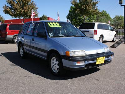 honda civic 1990 blue wagon gasoline 4 cylinders 4 wheel drive 5 speed manual 80229