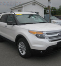 ford explorer 2013 white suv xlt flex fuel 6 cylinders 2 wheel drive 6 speed automatic 62863