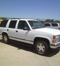 chevrolet tahoe 1999 white suv lt gasoline v8 4 wheel drive automatic 75503