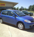 nissan versa 2009 blue hatchback 1 8 sl gasoline 4 cylinders front wheel drive automatic 75503