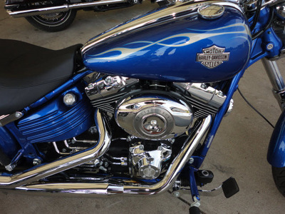 harley davidson fxcwc 2009 blue rocker custom 2 cylinders 6 speed 45342