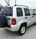 jeep liberty 2004 silver suv limited gasoline 6 cylinders rear wheel drive automatic with overdrive 76087