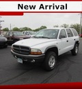 dodge durango 2002 white suv gasoline 8 cylinders 4 wheel drive 5 speed automatic 56301