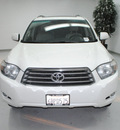 toyota highlander 2008 white suv sport gasoline 6 cylinders front wheel drive automatic 91731