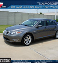 ford taurus 2011 gray sedan sho gasoline 6 cylinders all whee drive automatic 76108
