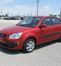 kia rio 2009 red sedan lx gasoline 4 cylinders front wheel drive automatic with overdrive 45840