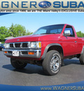 nissan truck 1997 red xe gasoline 4 cylinders 4 wheel drive manual 45324