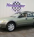 subaru outback 2006 willow green opal wagon 2 5i gasoline 4 cylinders all whee drive automatic 80905
