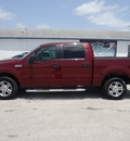 ford f 150 2005 red pickup truck xlt gasoline 8 cylinders rear wheel drive automatic 77388