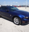 ford mustang 2012 dk  blue v6 gasoline 6 cylinders rear wheel drive 6 speed automatic 77388