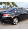 honda accord 2009 black sedan ex l gasoline 4 cylinders front wheel drive automatic 77065