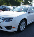 ford fusion hybrid 2011 white sedan hybrid 4 cylinders front wheel drive automatic 08753