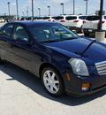 cadillac cts 2005 blue sedan gasoline 6 cylinders rear wheel drive automatic 76087