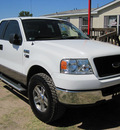 ford f 150 2005 white xlt gasoline 8 cylinders rear wheel drive automatic 77379