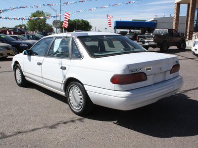 ford taurus 1993 white sedan gl gasoline v6 front wheel drive automatic 80229