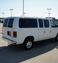 ford e series wagon 2011 white van e 350 sd xlt flex fuel 8 cylinders rear wheel drive automatic with overdrive 76108