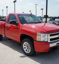 chevrolet silverado 1500 2009 red ls gasoline 6 cylinders 2 wheel drive automatic 76087