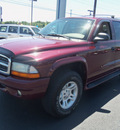 dodge durango 2002 dk  red suv slt gasoline 8 cylinders 4 wheel drive not specified 37087