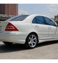 mercedes benz c class 2007 white sedan c230 sport gasoline 6 cylinders rear wheel drive automatic 77002