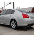 nissan maxima 2008 silver sedan 3 5 se gasoline 6 cylinders front wheel drive automatic 77002