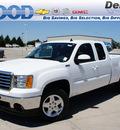 gmc sierra 1500 2012 white slt flex fuel 8 cylinders 4 wheel drive 6 speed automatic 76206