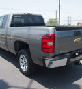 chevrolet silverado 1500 2012 gray pickup truck ls flex fuel 8 cylinders 2 wheel drive 4 speed automatic 76234