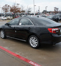 toyota camry 2012 black sedan xle v6 gasoline 6 cylinders front wheel drive automatic 76116