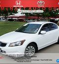 honda accord 2010 white sedan lx gasoline 4 cylinders front wheel drive 5 speed automatic 76210