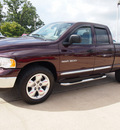 dodge ram pickup 1500 2005 dk  red pickup truck slt gasoline 8 cylinders rear wheel drive automatic with overdrive 77340