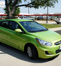hyundai accent 2012 lt  green hatchback gs gasoline 4 cylinders front wheel drive automatic 76210