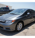 honda civic 2012 gray sedan ex gasoline 4 cylinders front wheel drive automatic 76543