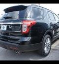 ford explorer 2013 black suv xlt flex fuel 6 cylinders 2 wheel drive shiftable automatic 77338