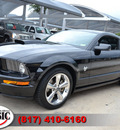 ford mustang 2009 black coupe gt premium gasoline 8 cylinders rear wheel drive standard 76051